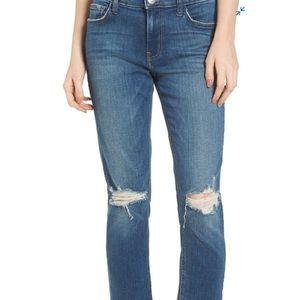 CURRENT/ELLIOTT High Waist Crop Straight Leg Jean